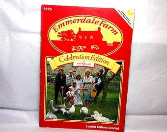 Emmerdale Farm, Vintage Magazine, 1000 Episodes, Yorkshire Television Series, British Soap Opera, UK TV Souvenir, Great Britain Collectible
