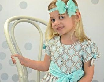 Aqua Bow Headband, Aqua Headband, Aqua Hair Bow, Aqua Bow, Solid Aqua Bow, Bow Headband, Aqua Accessories, Flower Girl Headband, Bow