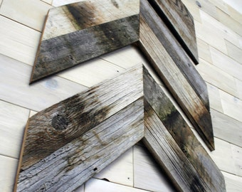 Barn Wood Chevron Wall Decor [set of 3]