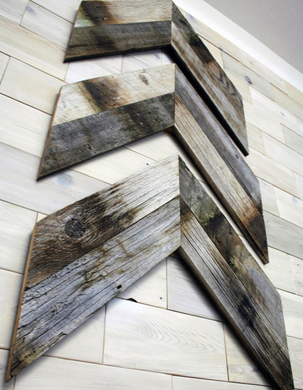 Barn Wood Chevron Wall Decor Set Of 3