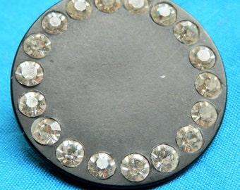 LG Rhinestone Vintage Button