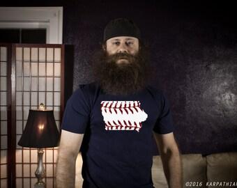 Iowa baseball mens tee