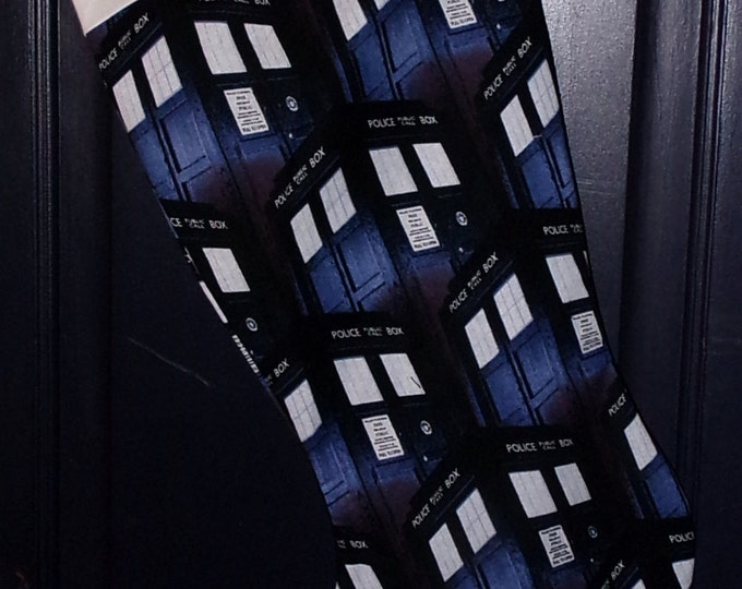 Tardis Christmas Stocking