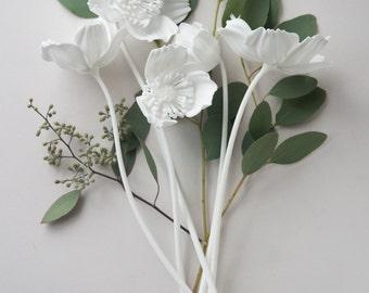 3D Printed Icelandic Poppy Bouquet - Set of 5 Nylon Flowers in
