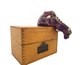 Dragon Figurine - Dragon Sculpture - Graduation Gifts - Fantasy - Dragon Home Decor - Ceramic Dragon - Purple Dragon - Painted Statue