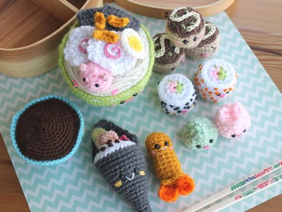 Amigurumi Food Sushi : Amigurumi Food Bento Family II Crochet Pattern/ by ...