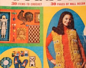 Vintage Knitting Crochet McCall's Needlework & Crafts Magazine Fall Winter 1970-1971 1970s