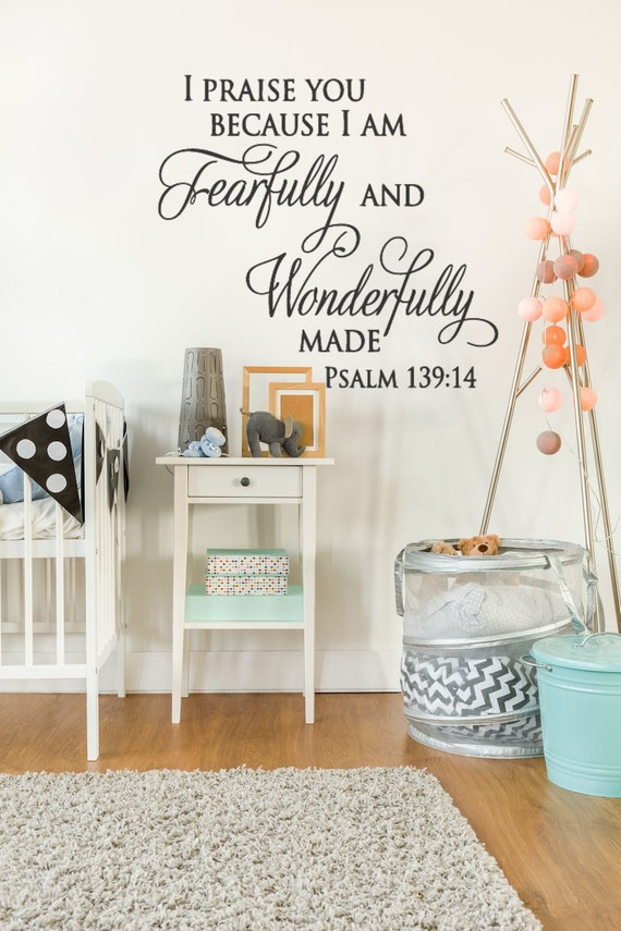 Christian Wall Decor For Nursery : Items similar to christian wall art nursery decal