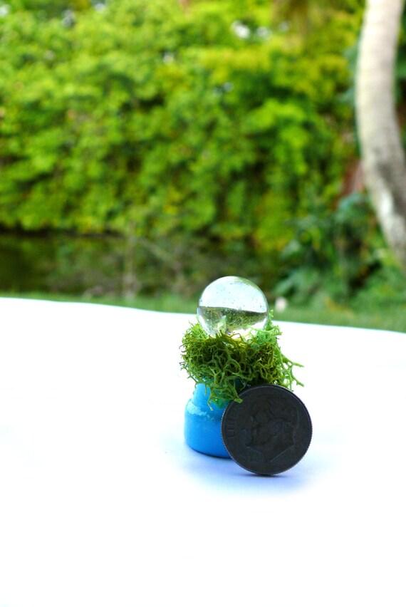 Cracked Crystal Gazing Ball Garden Orb Fairy Garden Spritiual