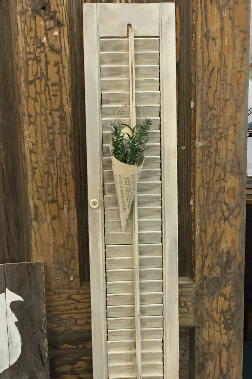vintage home decor distressed shutter rustic painted shutter black bear lodge cabin rustic primitive country distressed