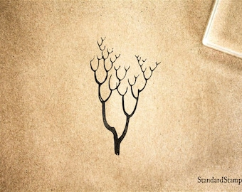 Branchy Tree Rubber Stamp - 2 x 2 inches