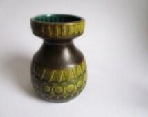 Green vintage vase Jasba West Germay ceramic SALE
