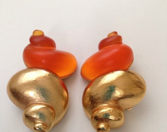 CHRISTIAN DIOR Vintage Dune Earrings