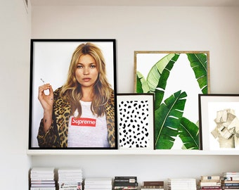 Kate Moss Poster PRINTABLE FILE - Supreme Kate Moss, Fashion Icon, Fashion Art, Fashion print, Dorm decor, Gift for her, supermodel