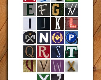 Alphabet poster in color - 11x17