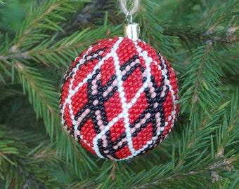 Handmade Christmas ornaments our first Christmas tree decor red ornaments modern Christmas bauble ornaments tree ornament Wall hanging decor