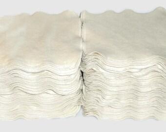 "Cloth Wipes  SALE!!! Set of 32 pcs Organic Hemp Cotton Fleece Reusable Cloth Wipe 7""x7"""