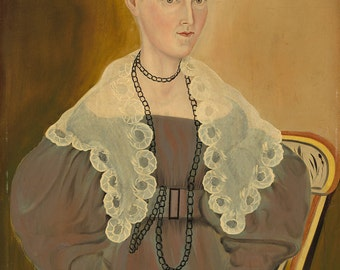 "Asahel Powers : ""Hannah Fisher Stedman"" (1833) - Giclee Fine Art Print"