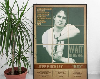 JEFF BUCKLEY Quote Lyrics Art Print Poster *  Retro Vintage Wall Decortation , Gift For Him Gift For Her