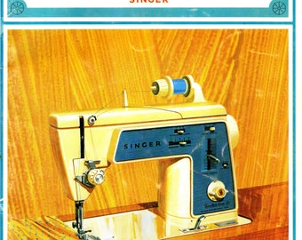 Singer Touch & Sew Model 638 ORIGINAL MANUAL 1968 Owner's Instructions Chainstitching Machine