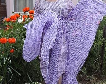 Vintage 1970s Silk Dress / Ethereal / Wedding Party Dress / Boho / Poet Sleeve / size Medium