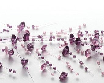 Beaded Acrylic Garland Spray - Lavender Mist