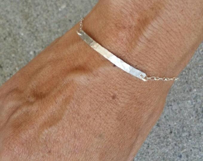 Silver Bar Bracelet, Tiny Bracelet, Hammered, Hammered Bracelet, Tiny Silver Bracelet, Sterling Silver