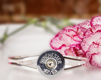 Shotgun Bullet Casing Jewelry - Shotgun Bullet Cuff Bracelet (12 Gauge)