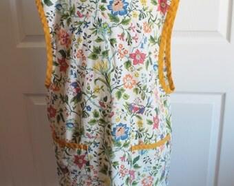 Vintage Floral Cooking, Art Smock or Apron