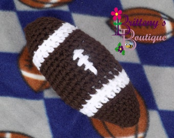 Baby Lovey / Crochet Baby Lovey / Crochet Plush Football Baby Fleece Lovey / Baby Security Blanket / Baby Snuggle Blanket / Baby Shower Gift