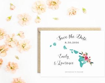 Hawaii Wedding, Save The Date, Island Wedding, Destination Wedding