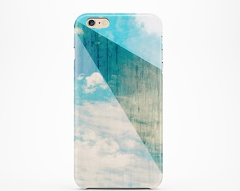 Ready to Ship - Wood iPhone 6s case Cloud iPhone 6 case Color Block iPhone case Cloud iPhone 5s case geometric iphone case, romantic