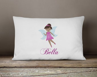 Personalized Fairy Pillow Case for Girls, Fairy Birthday Party Fairies Pillowcase, Personalized Kids Pillowcase, Pillow Slip, Standard Cover