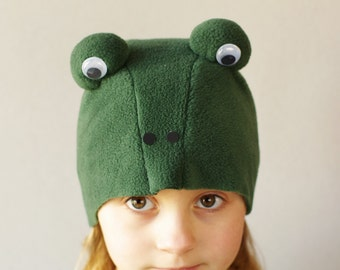 Frog costume hat,  kids dress up hat, kids costumes, kids dress up hat, animal hat, animal costume, frog play hat,  costume children