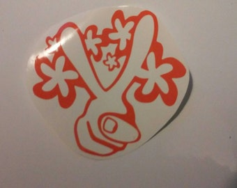 Peace Sign Decal/ Peace Sign Window Decals/Window Decals/Peace Yeti Cup Decal