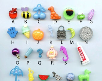 ABC trinkets AND/OR letters for I Spy, I Spy bags, sensory bins, educational games, teaching, crafts.  Trinkets as shown.  Set 5