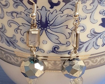 PRICE REDUCED!! Silver and Clear sparkle earrings
