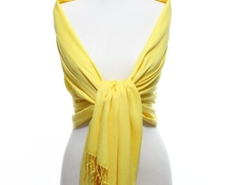 Sunshine Pashmina Yellow Scarf Pashmina Scarf Pashmina Shawl Sunshine Wedding Shawl Pashmina Wrap Bridesmaid Shawls Wedding Favors