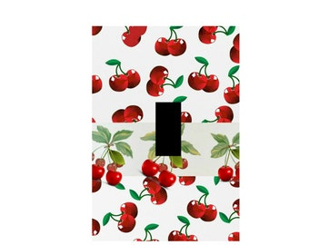 Cherry Light Switch Plate Retro Kitchen Wall Art Red Cherries Light Switch Plate Cherry Kitchen