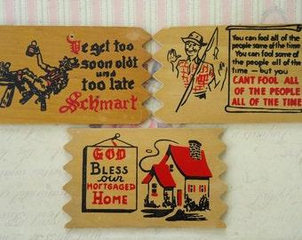 Wooden Postcards (set of 3)