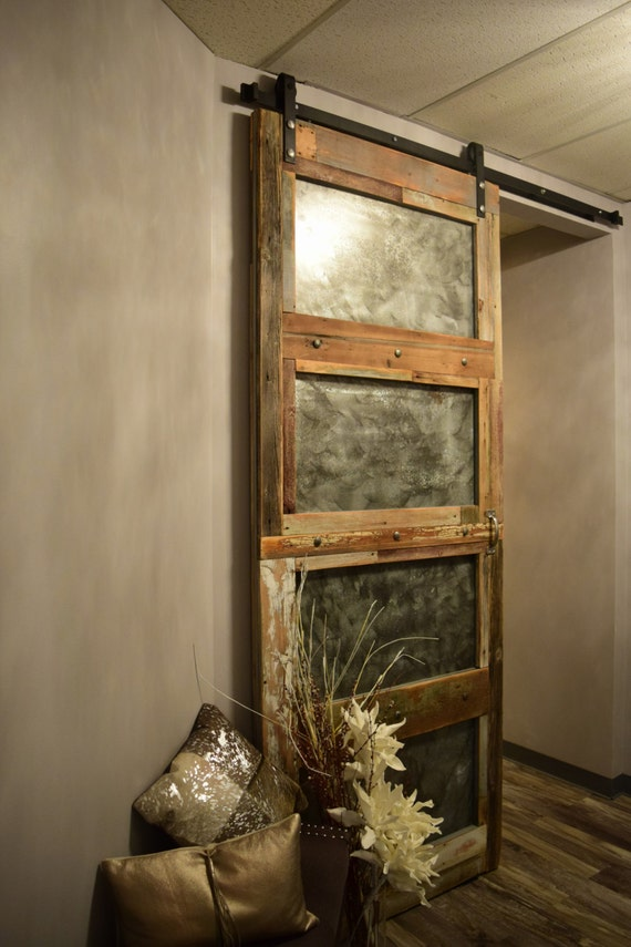 Custom Built Reclaimed Wood Barn Door