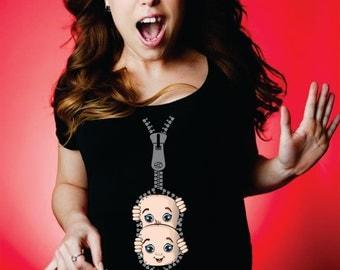 Funny maternity shirt twins - maternity twins shirt