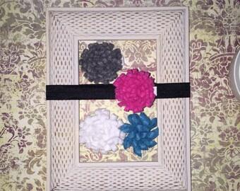 Preemie Newborn felt flower headband