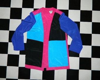 Vintage Color Block Blazer..