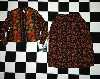 Vintage Baroque Skirt Set