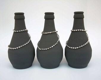 Upcycling Vases, Flower Vases, Jars, Candle holdesr, Set of 3