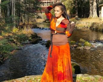 Hand dyed bamboo patch skirt organic pixie skirt hippie skirt gypsy skirt handmade festival