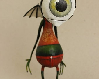 KYLE the Cyclops alien OOAK DOLL KriSoft