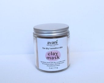 Clay Facial Mask | Dry, Sensitive Skin