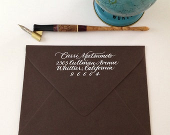 Custom Calligraphy Return Address Stamp - Classic Script Style